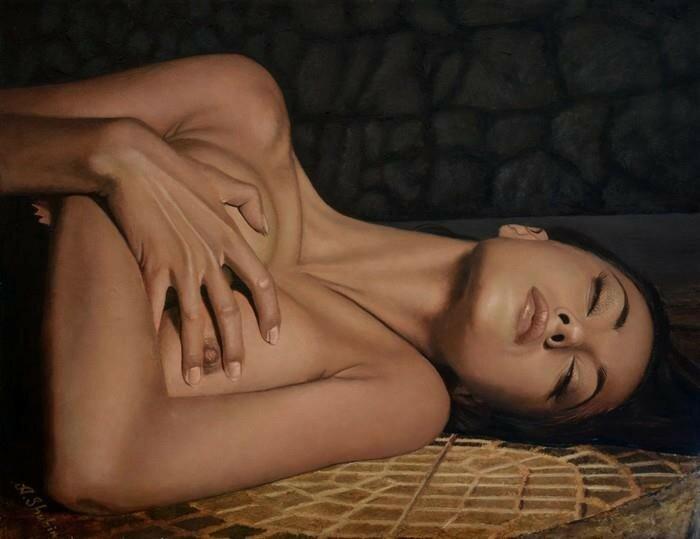 Кто она, лучезарная женщина? Художник Alexander Shubin