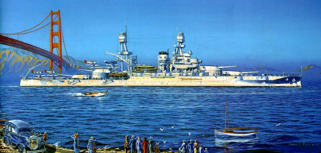 USS Pennsylvania BB-38 en San Francisco - James A. Flood.