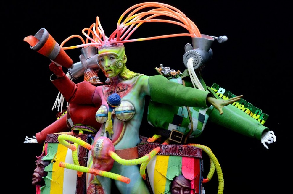 Мастер боди-арта: Benoit Botalla, Гваделупа.