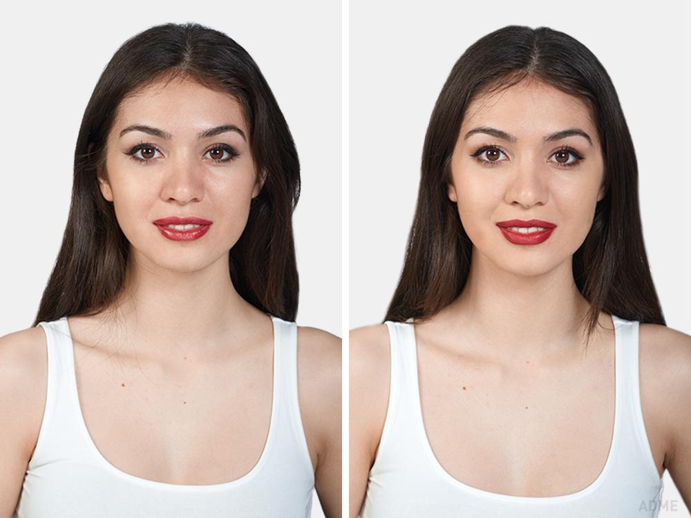 Сэтого ракурса глаза, накрашенные дорогой идешевой косметикой, кажется, невозможно отличить. Нана