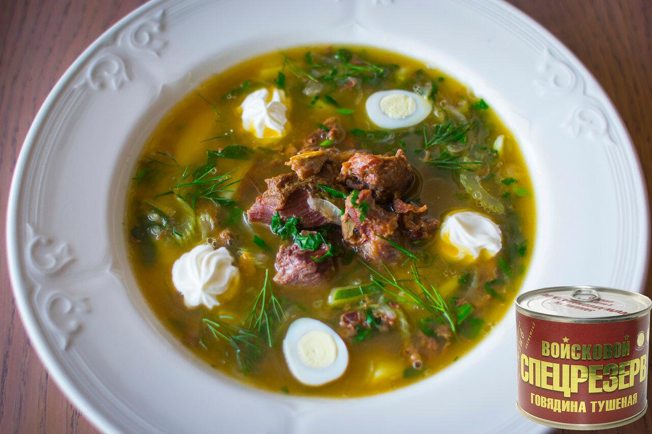 Суп с тушенкой Щи из щавеля и шпината за 20 минут