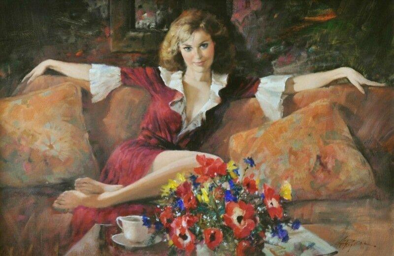 Загадочная женщина! Женские образы на красивых картинах Говарда Роджерса