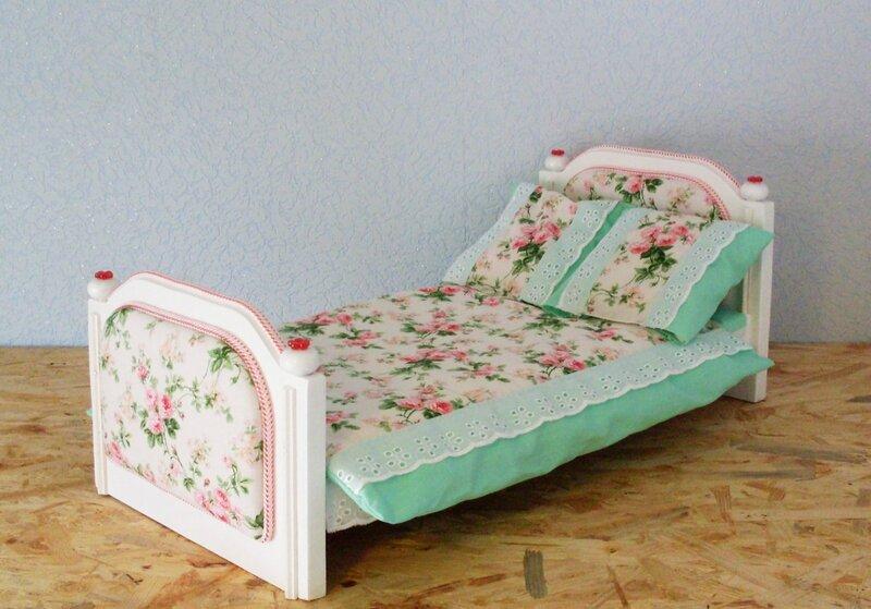 одной кровать для барби своими руками фото быстро, съедается еще