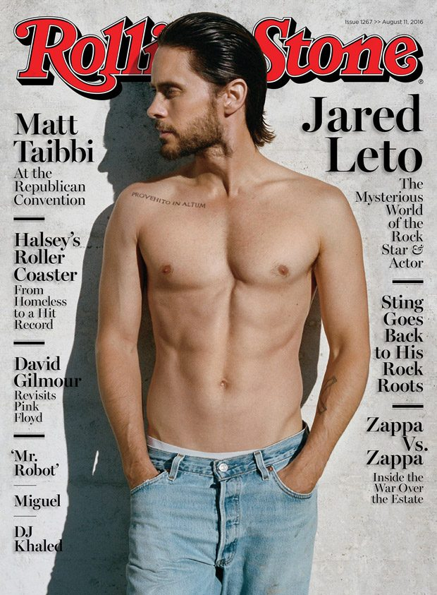 Suicide Squad superstar Jared Leto takes the cover story of Rolling Stone 's August 2016 editi