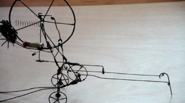 I love that these wiry automata by Mihai Bonciu require complex components to make such simple actio