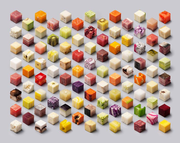 CUBES - An incredible culinary photographs created for real without editing