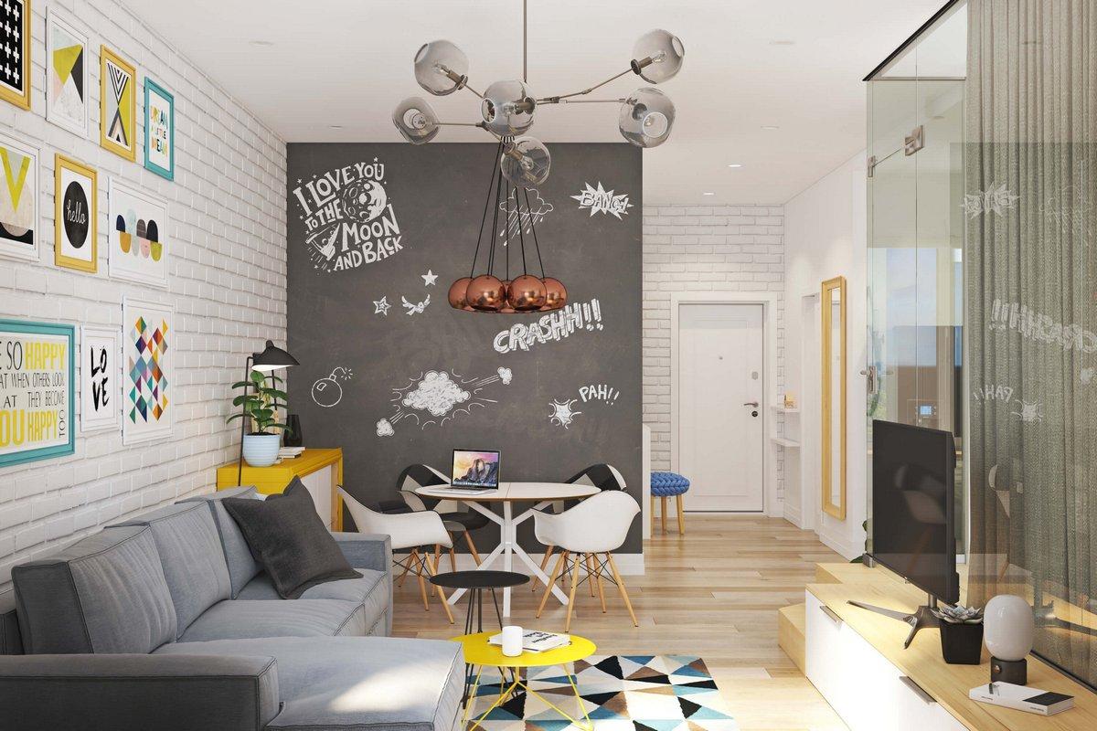 Меловая доска в квартире