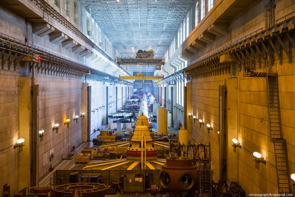 Монтаж рабочего колеса гидроагрегата №7 на Жигулёвской ГЭС 0_11235f_9486cde9_orig