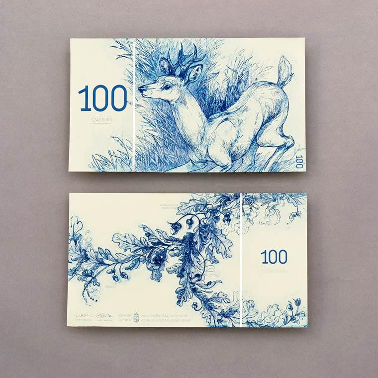 Euro Banknotes Redesign - Une etudiante imagine de superbes billets de banque