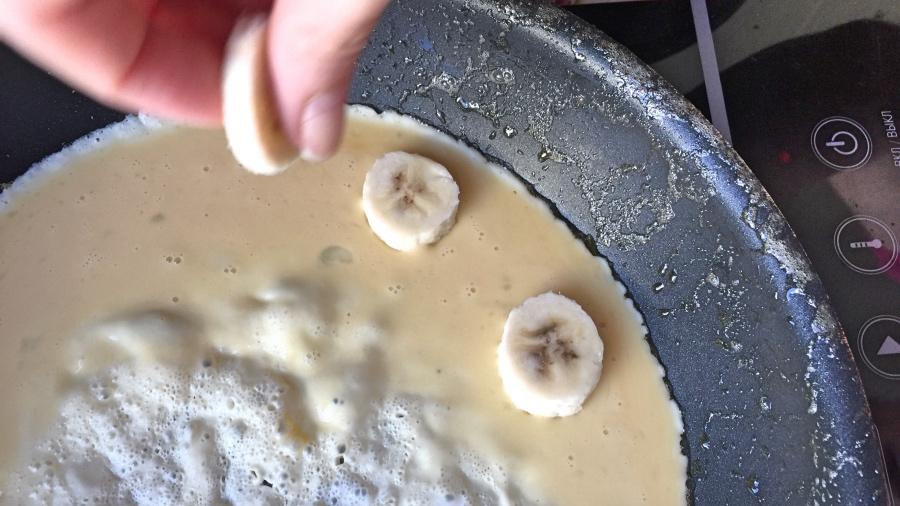 Омлет с бананами