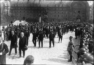 Официальные лица на траурной церемонии