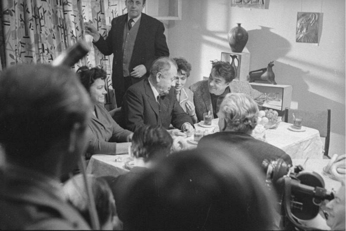 1963. Джон Стейнбек, Борис Полевой в редакции журнала «Юность»