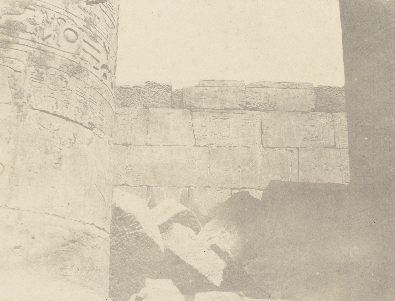 Карнак. Гипостильный зал.  Северная стена (внутренняя сторона(