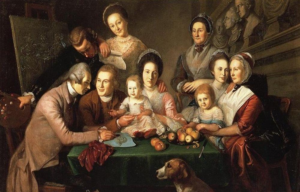 Чарльз Уилсон Пил. Семья Пил 1771-73