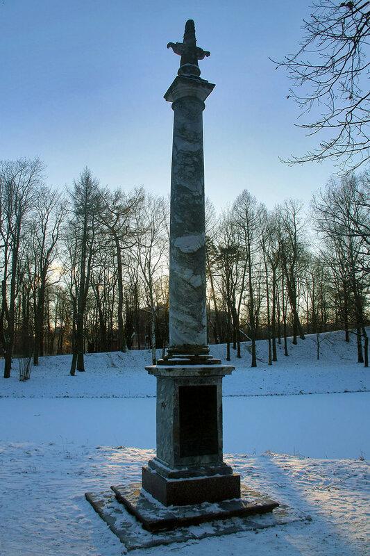 Морейская колонна. Екатерининский парк. Город Пушкин