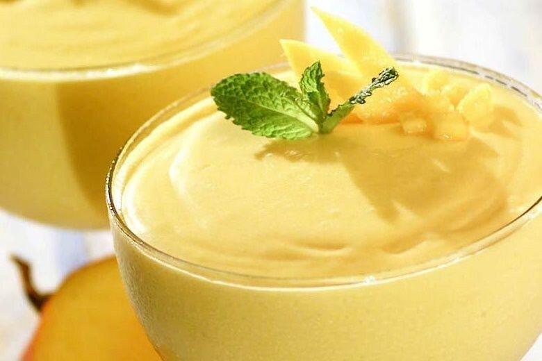 Лимонный мусс из желе и сгущенного молока