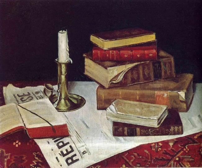 © wikiart.org  «Книги исвеча», 1890 В1889 году уАнри случился приступ аппендицита. Когда он