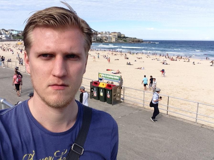 «Пляж Бонди-бич в Сиднее. Совсем не такой, как по телевизору».
