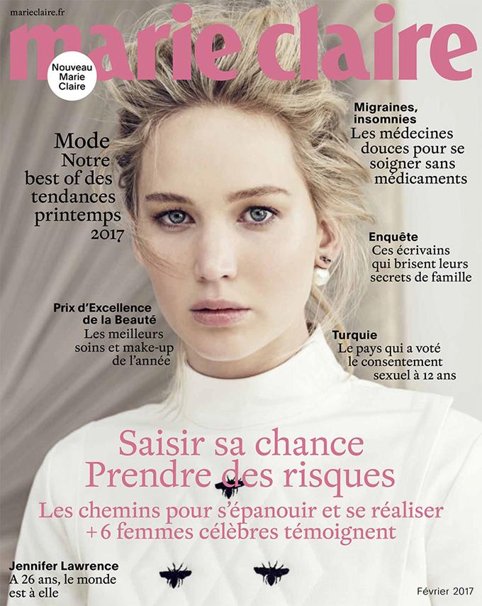 Дженнифер Лоуренс в Marie Claire (4 фото)