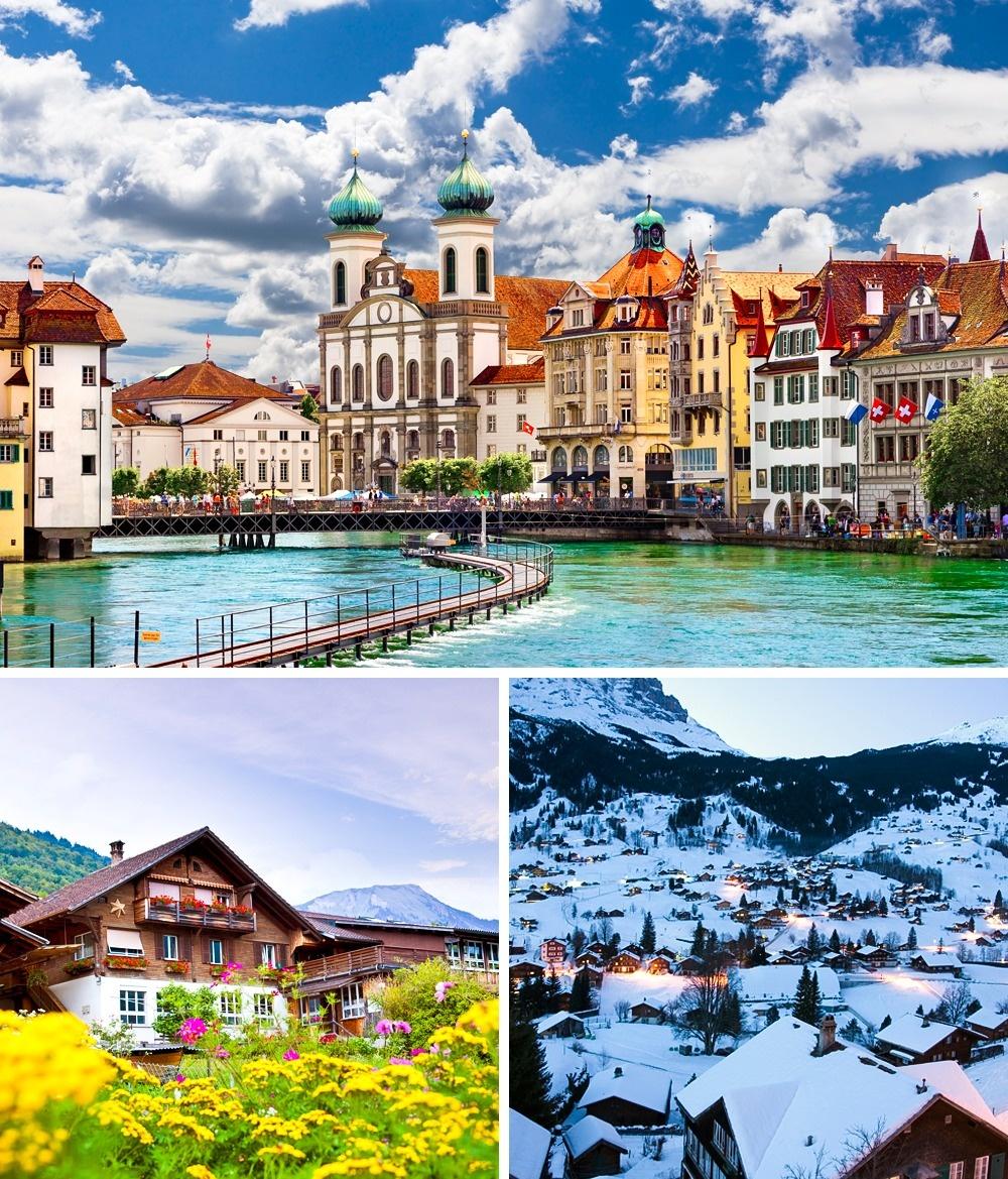 © depositphotos  Швейцария признана лучшим местом для проживания в2017году. Большая часть па