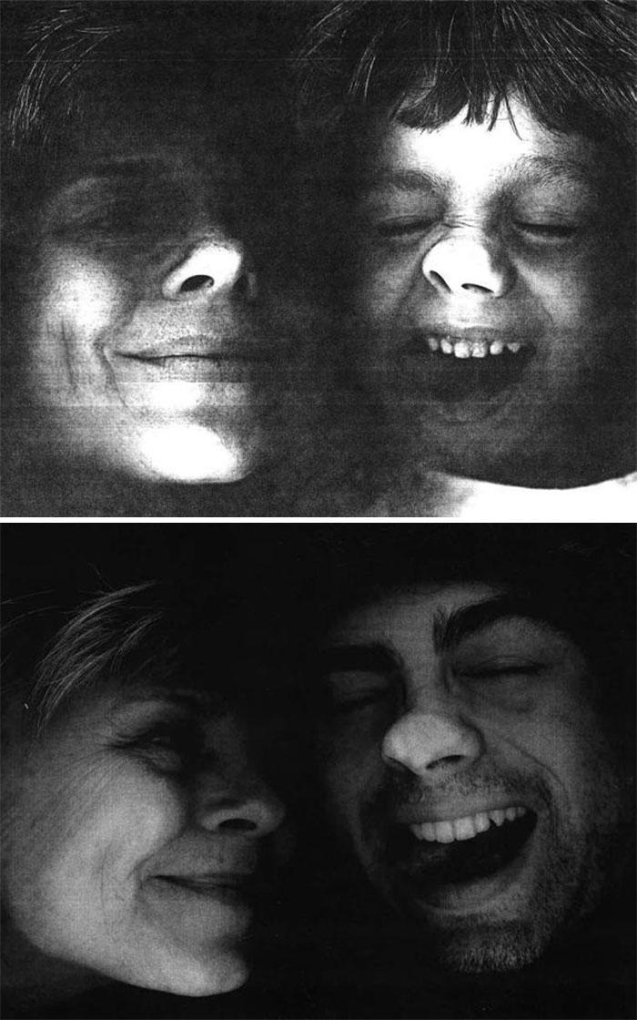 «Тогда и сейчас — наш с сыном портрет на копировальной машине».