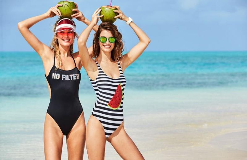 Рекламная кампания купальников Calzedonia
