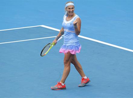 Русская теннисистка Кузнецова одержала 600-ю победу втурнирах WTA