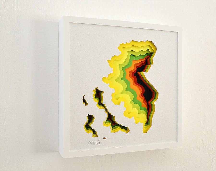 Colorful 3D Paper Art (6 pics)