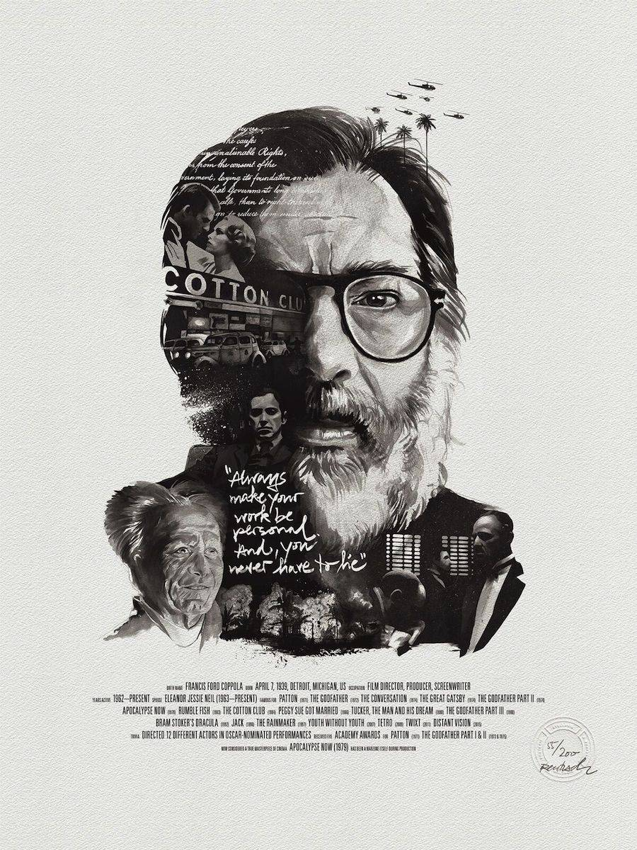 Superb Posters of Movie Directors and their Characters
