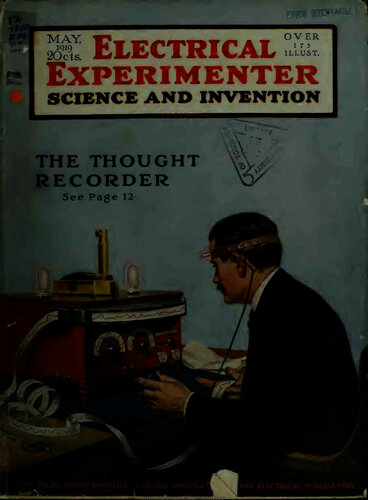 Electrical Experimenter: 1919 May - - Book Cover