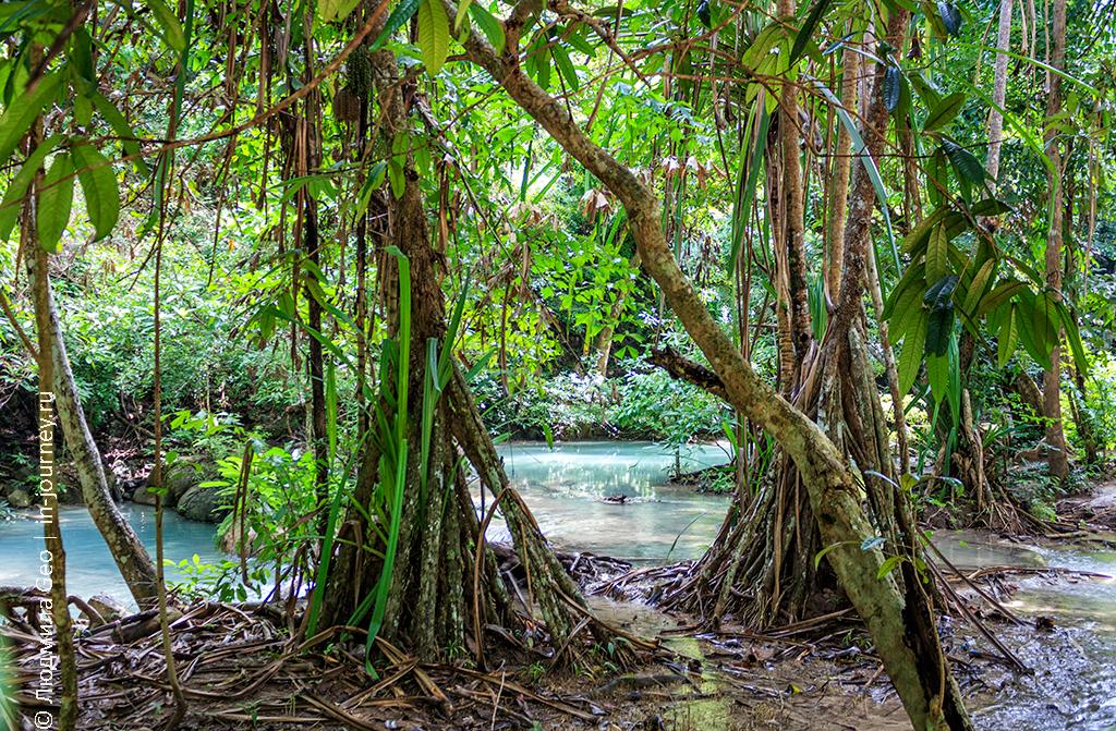 водопад эраван в тайланде