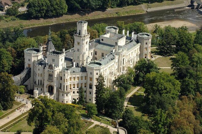 Замок Глубока над Влтавой. Чехия