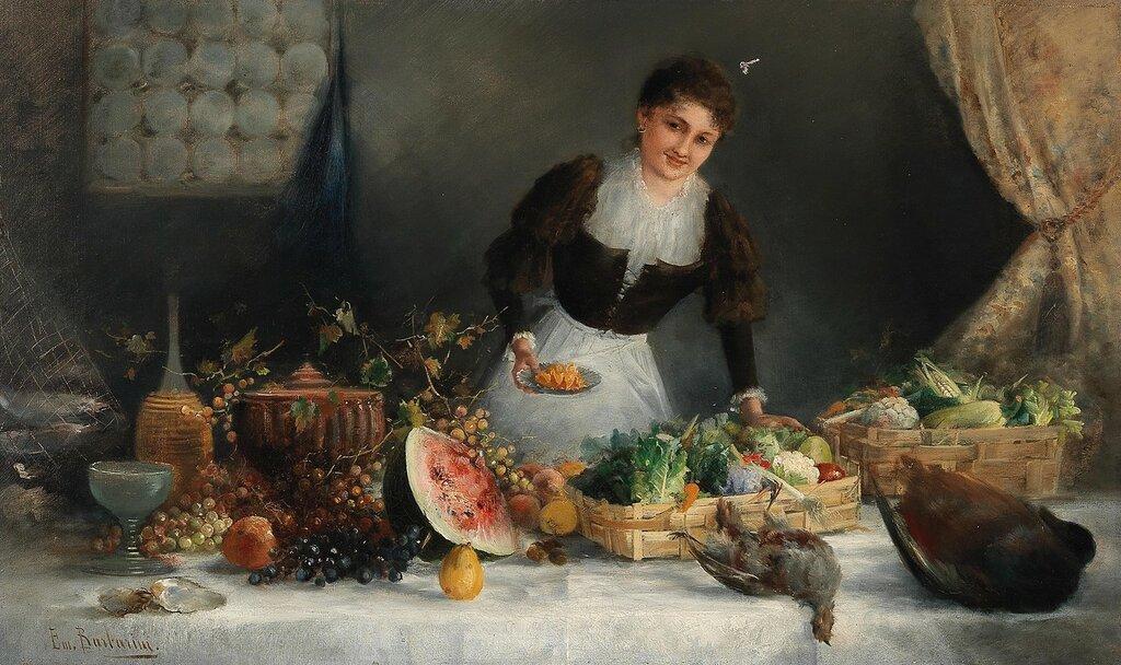 Emil Barbarini  (Wien 1855-1930) Marktverkäuferin