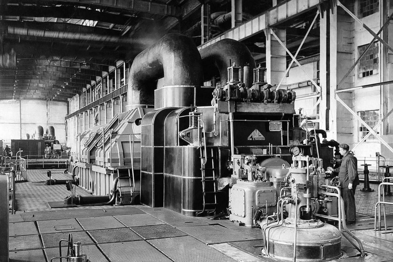Южноуральская ГРЭС.Турбина 100 тыс. квт. 1940
