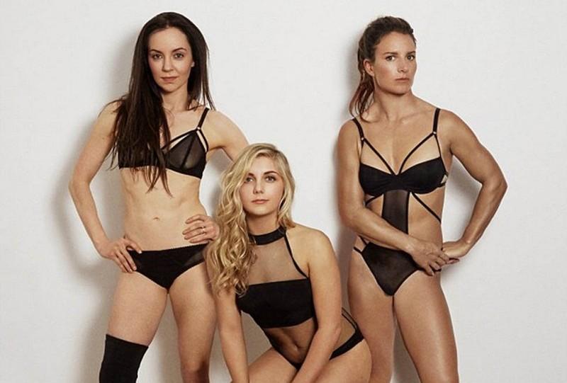 Британские олимпийские спортсменки разделись до белья для пропаганды спорта