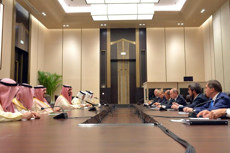 Встреча с преемником Наследного принца Саудовской Аравии Мухаммадом бен Сальманом 4.09.2016, Ханчжоу.png