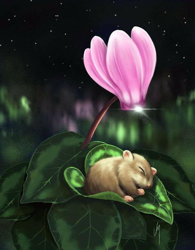 Открытка спокойной ночи мышонок