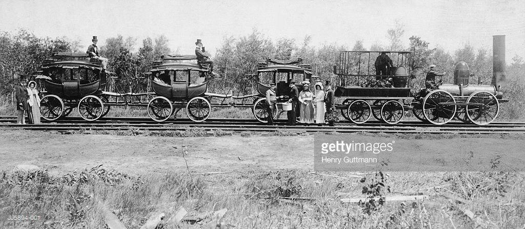 Поезд железной дороги Witt Clinton Railway, 1860–е годы, США