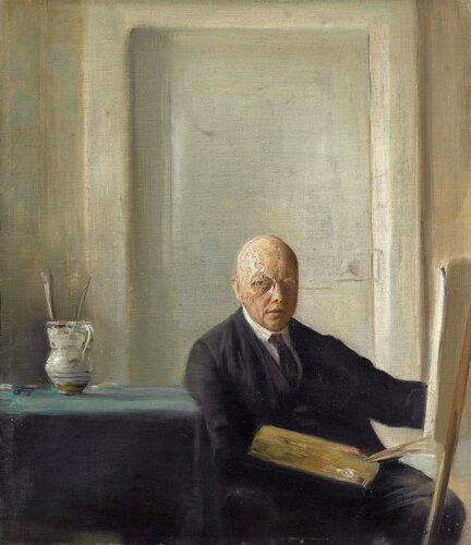 "����������� ����� ���������� (Self Portrait)_�������� Carl Holsoe (1863 - 1935), �����."""