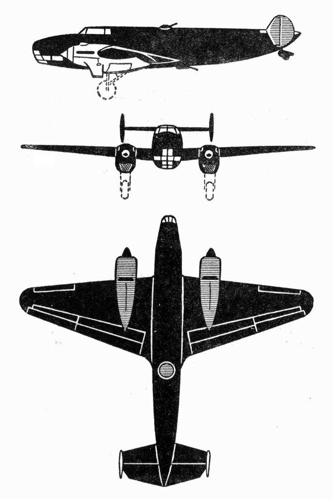 Силуэты итальянских самолетов (1939) 019
