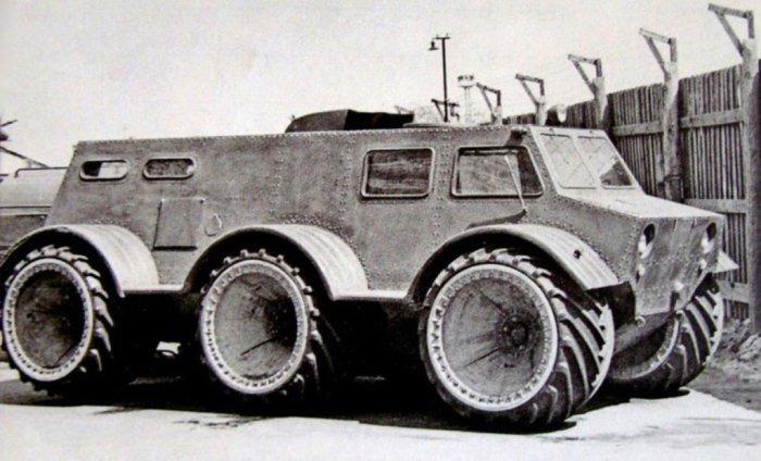 Снегоболотоход ЗИЛ-136 на арочных колесах. ЗИЛ-132 Целая серия опытных грузовых моделей последовала