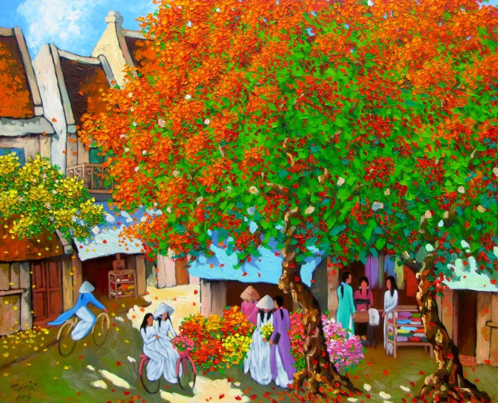 Этого художника изВьетнама вдохновляет импрессионизм. Иэто хорошо видно поего работам. Стиль роди
