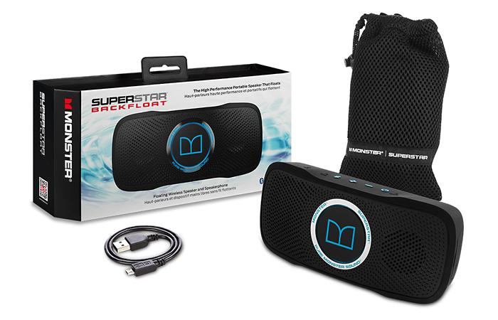 Monster SuperStar BackFloat – плавающая водонепроницаемая Bluetooth-колонка для отдыха на воде. Корп