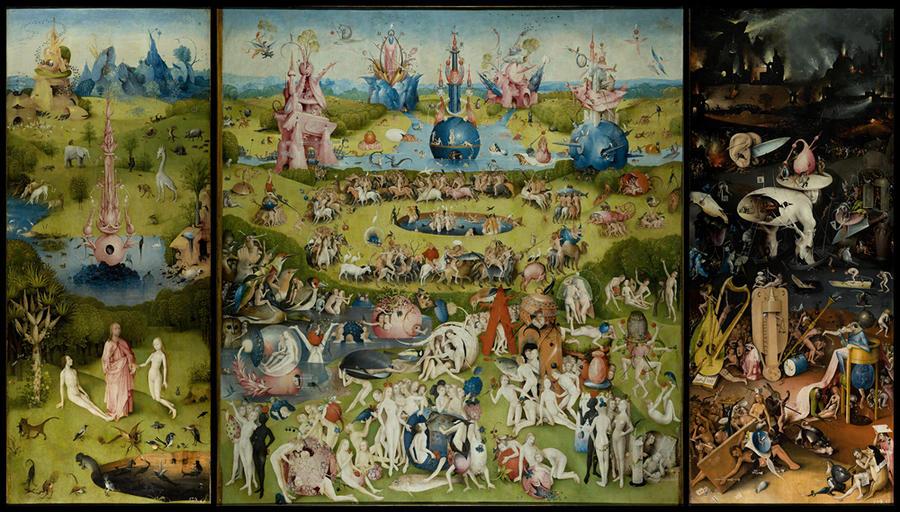 1. Иероним Босх, «Сад земных наслаждений», 1500-1510.