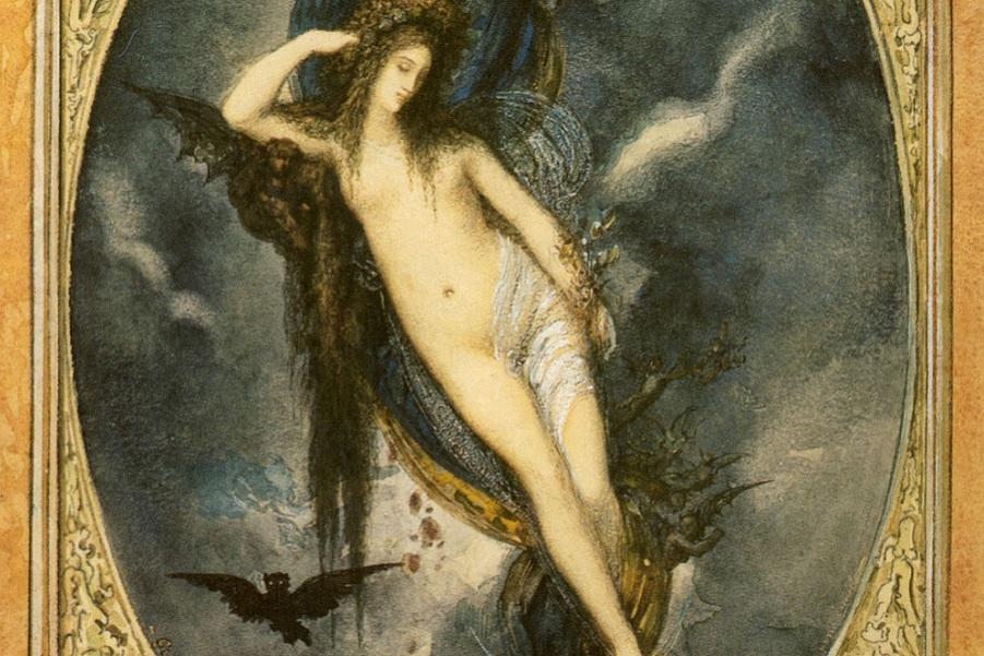 Богиня ночи нюкта картинки