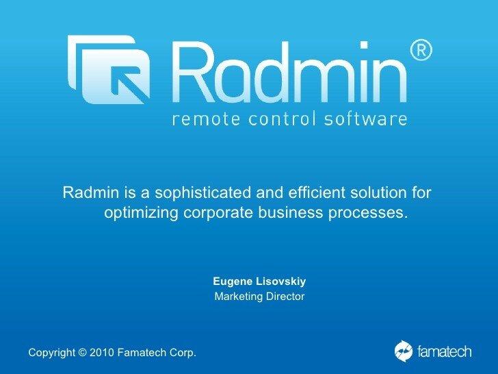 Radmin 3.5 - программа для удаленного администрирования пользователей локальной сети