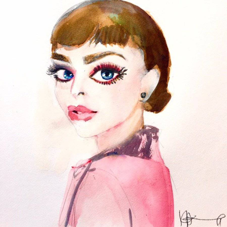 Watercolor Paintings of Famous Celebrities