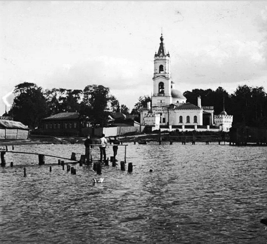1910.  Окрестности Москвы. Церковь Николая Чудотворца в Косине