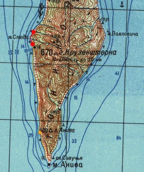 Карта маршрута 17 августа