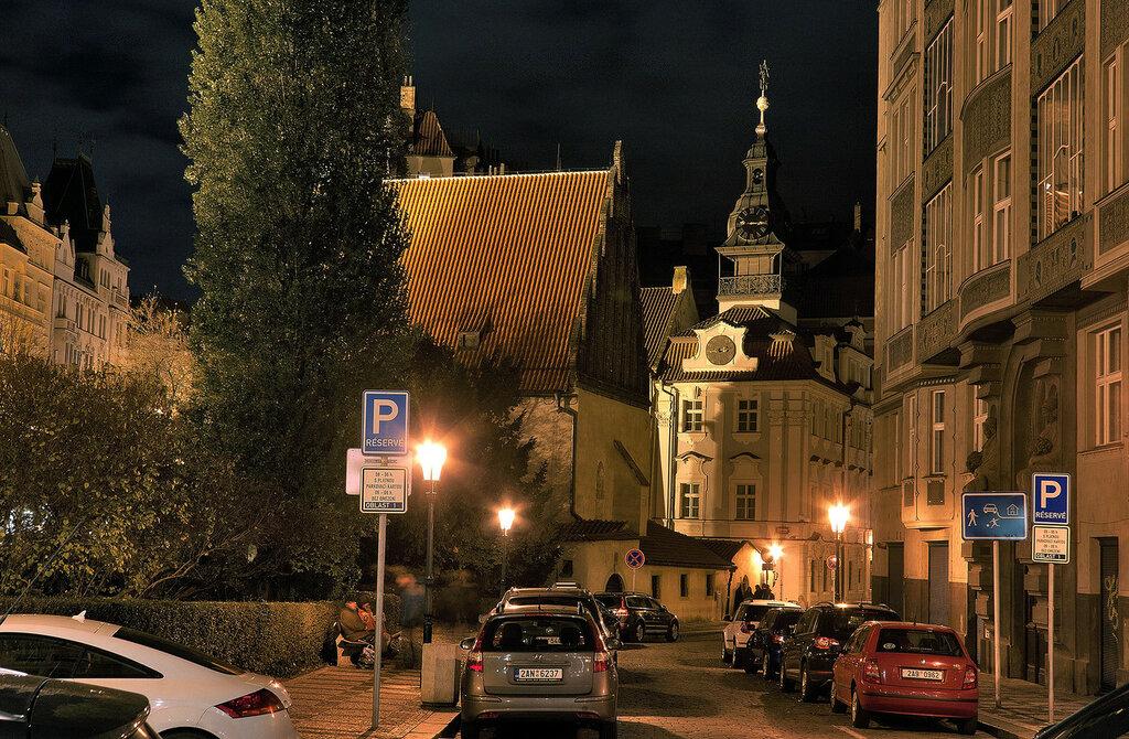 Ночной вид.Еврейский квартал ( Прага )